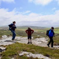 Hiking behind Malin Head
