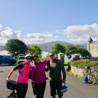 Ready to go! Enjoying a final panorama of Lough Gill & Parkes Castle