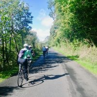 Biking on quiet country lanes in the shadow of the Ox Mountains