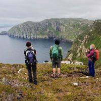 Admiring the Antrim coast