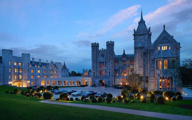 Adare Manor sunset luxury accommodation - avoid tourism crowds in Ireland