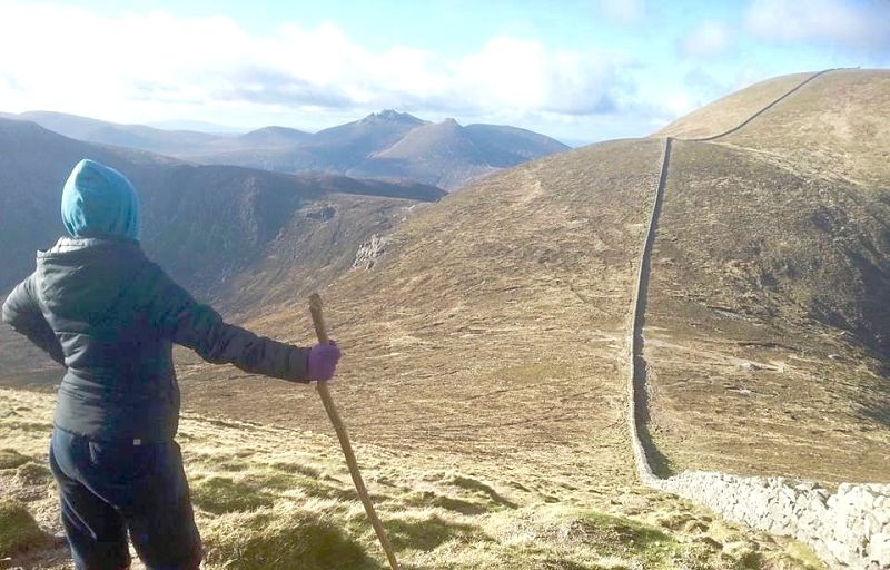 Mourne Wall, Mourne Mountains - avoid tourism crowds in Ireland