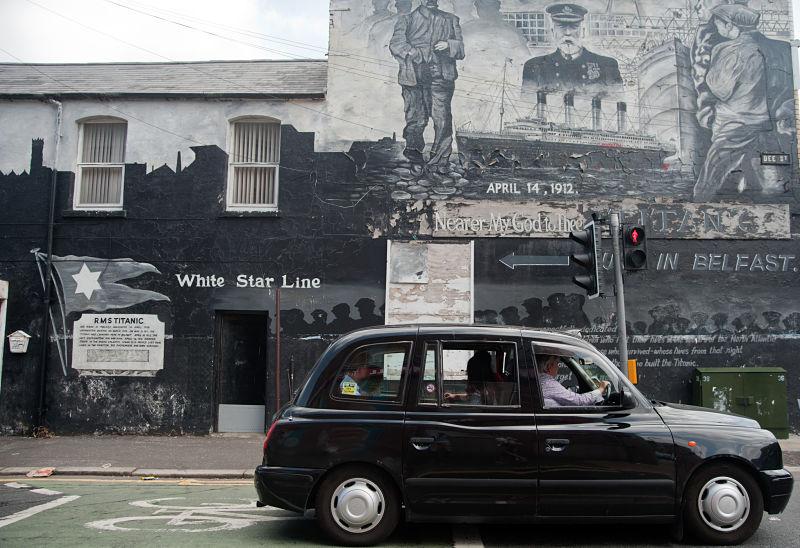 Belfast Northern Ireland black cab - avoid tourism crowds in Ireland