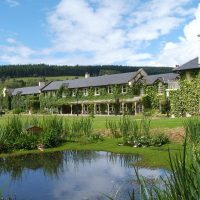Relax at a luxurious eco-lodge allow the Wicklow Way.