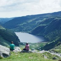 What a place for a picnic! Admire the views over Wicklow's loughs.