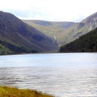 Standing at the shores of one of Wicklow's hidden lakes