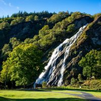 A quick deviation to the splendid Powerscourt Waterfall.