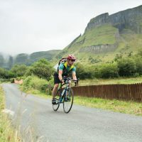 Biking in Ben Bulben's shadow.