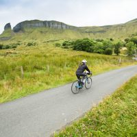 Biking Sligo's quiet country lanes.