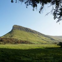 Ben Bulben, Ireland's iconic table mountain, made famous by poet WB Yeats.