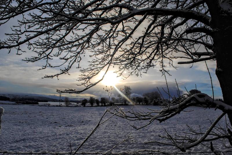 Snow hiking Ireland